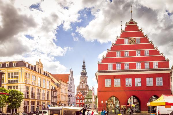 Rathaus in der Hansestadt Greifswald