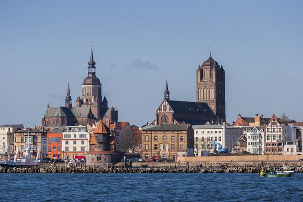 Silhouette der Hansestadt Stralsund