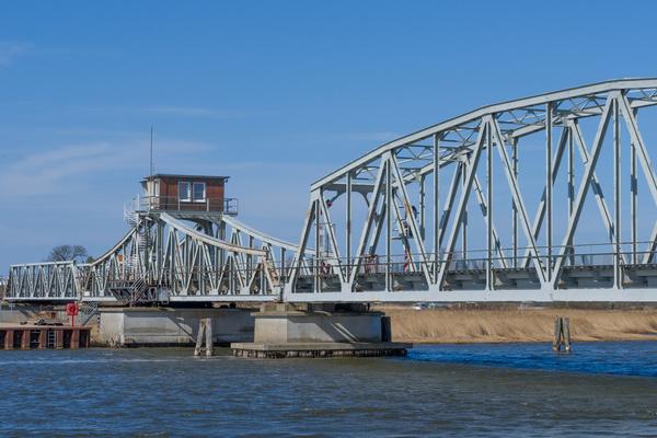 Meinigenbrücke zum Darß bei Zingst