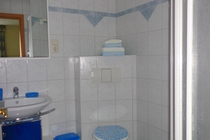 Ferienwohnung in Malchow am Fleesensee Badezimmer