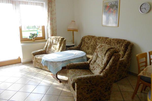 Ferienwohnung Mellenthin Insel Usedom Wohnzimmer
