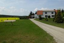 Ferienwohnung Mellenthin Insel Usedom Hausansicht Hof