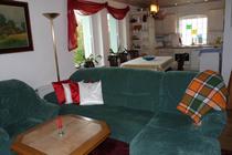Ferienhaus Serrahn Serrahner See Wohnbereich offene Küche