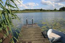 Ferienwohnung Hohen Sprenz Hohensprenzer See Steg Boot