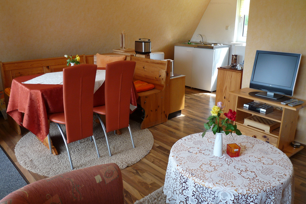 Ferienhaus Dabel Dabeler See Wohnbereich