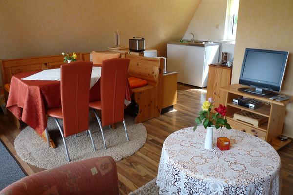 Ferienhaus Dabel Sternberger Seenland Wohnbereich