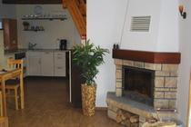 Ferienhaus Loppin Loppiner See offene Küche Kamin