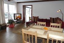 Ferienhaus Loppin Loppiner See offener Wohnbereich