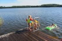 Ferienhaus Dabel Holzendorfer See Kinder baden