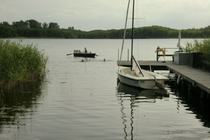 Ferienhaus Dabel Holzendorfer See Badestelle und Steg