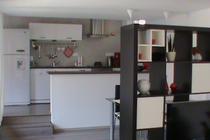 Ferienwohnung Krakow am See Krakower See Wohnbereich Küche