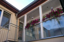 Ferienwohnung Krakow am See Krakower See Blick auf die Wohnung