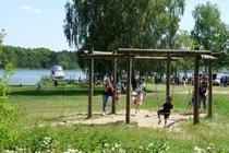 Malchow Fleesensee Badestrand Spielplatz