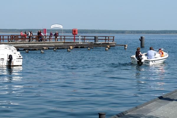 Fleesensee Untergöhren Hafen Boot fahren