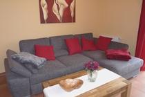 Ferienhaus Fleesensee Untergöhren Couch