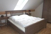 Ferienhaus Fleesensee Untergöhren Schlafzimmer oben