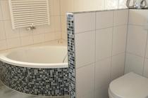 Ferienhaus Fleesensee Untergöhren Badewanne