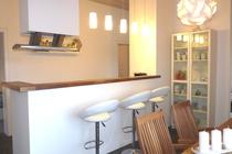 Ferienhaus direkt am See Nähe Ostsee Küchentresen