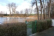 Ferienhaus direkt am See Nähe Ostsee Terrasse