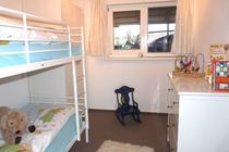 Ferienhaus direkt am See Nähe Ostsee Schlafzimmer Etagenbett