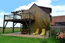 Ferienwohnung Wredenhagen Terrasse an Liegewiese
