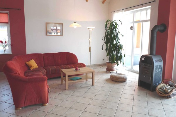 Ferienhaus Mecklenburgische Seenplatte Wesenberg Strasen Wohnbereich