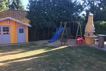 Ferienhaus Malchow Fleesensee Garten Grillecke Spielplatz