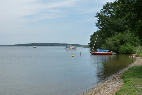 Plauer See Badestrand Boote