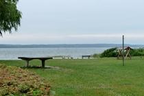 Ferienhaus Plau am See Badestrand Tischtennisplatte