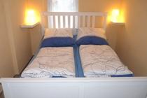 Ferienhaus Plau am See Schlafzimmer Bett