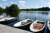 Mecklenburger Seenplatte Ferienhaus am See Boot fahren