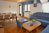 Mecklenburger Seenplatte Ferienhaus am See Wohnzimmer
