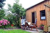 Ferienhaus Mecklenburgische Seenplatte Jabel Haus Terrasse