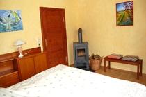 Ferienhaus Nähe Usedom Salchow Schlafzimmer Kamin