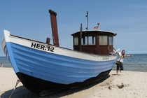 Usedom Ostsee Boot am Strand