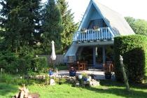 Ferienhaus Malchow Fleesensee Garten Lagerfeuerstelle