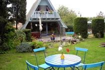 Ferienhaus Malchow Fleesensee Sitzplatz Garten