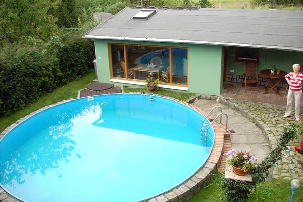 Ferienhaus Malchow Fleesensee Haus Pool