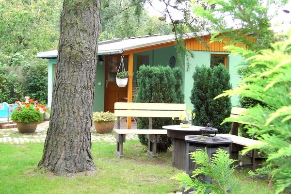 Ferienhaus Malchow Fleesensee Sitzecke Garten