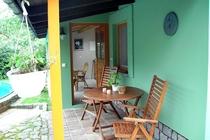 Ferienhaus Malchow Fleesensee Terrasse