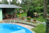 Ferienhaus Malchow Fleesensee Pool Garten