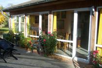 Ferienhaus Dabel Holzendorfer See Wintergarten von außen