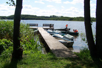 Ferienwohnung Mecklenburgische Seenplatte Dabel Holzendorfer See Boot fahren und Angeln