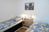 Ferienwohnung Mecklenburgische Seenplatte Dabel Holzendorfer See Schlafzimmer Einzelbetten