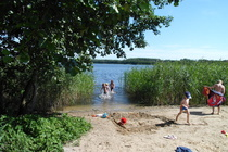 Ferienwohnung Mecklenburgische Seenplatte Dabel Holzendorfer See Kinderbadestrand
