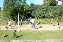 Ferienwohnung Mecklenburgische Seenplatte Dabel Holzendorfer See Volleyball spielen