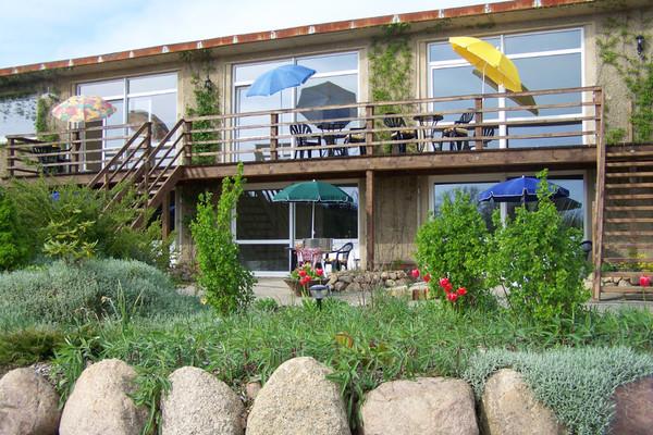 Ferienwohnung Dabel Holzendorfer See  Blick auf die Wohnungen
