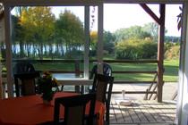 Ferienwohnung Dabel Holzendorfer See Blick nach draußen