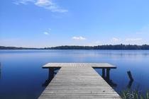 Ferienwohnung Krakow am See Badesteg