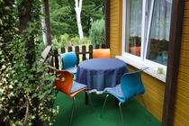 Ferienhaus Mecklenburgische Seenplatte Petersdorfer See Terrasse